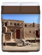Taos Red Doors  Duvet Cover