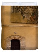 Tapestry Wall At Church Of The True Cross Duvet Cover