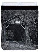 Tappan Covered Bridge Bw Duvet Cover