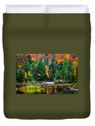 Taquamenon Lower Falls And Observation Deck. Duvet Cover