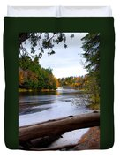 Taquamenon River And Lower Falls  Duvet Cover