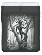 Tar Girl In A Tree Duvet Cover