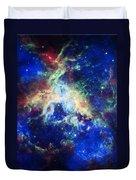 Tarantula Nebula 4 Duvet Cover by Jennifer Rondinelli Reilly - Fine Art Photography
