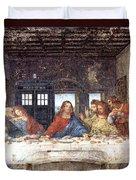Tardis V Leonardo Da Vinci Duvet Cover