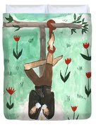 Tarot 12 The Hanged Man Duvet Cover