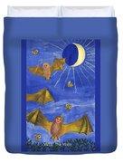 Tarot 18 The Moon Duvet Cover