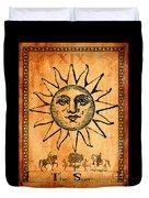 Tarot Card The Sun Duvet Cover by Cinema Photography