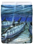 Tarpon In Paradise - Sabalo Duvet Cover by Terry Fox