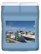 Tarpon Springs Fishing Boats  Duvet Cover