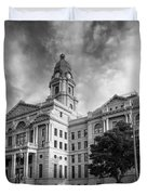 Tarrant County Courthouse Bw Duvet Cover