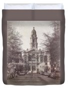 Tarrant County Courthouse Duvet Cover