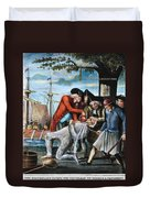 Tarring & Feathering, 1773 Duvet Cover