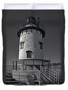 Tarrytown Lighthouse Bw Duvet Cover