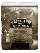 Tassajara Hot Springs Stage Monterey Co. California Circa 1910 Duvet Cover