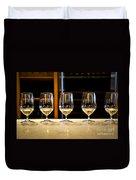 Tasting Wine Duvet Cover by Elena Elisseeva