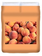 Tasty Peaches Duvet Cover by Carol Groenen