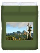 Tatoosh Range In August. Mt Rainier National Park Duvet Cover