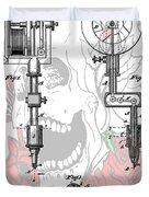Tattoo Machine Patent Duvet Cover by Dan Sproul