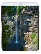 Taughannock Falls Duvet Cover by Christina Rollo