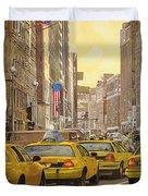 taxi a New York Duvet Cover