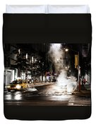 Taxi And Smoke Duvet Cover