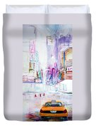 Taxi Eight Show Time Duvet Cover