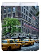 Taxicabs Of New York City Duvet Cover