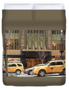 Taxis In The City Duvet Cover