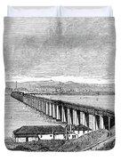 Tay Rail Bridge, 1879 Duvet Cover