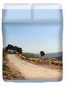 Taybeh Side Road Duvet Cover