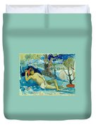 Te Arii Vahine .the Queen Of Beauty Or The Noble Queen. Duvet Cover