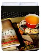 Tea And A Read Duvet Cover