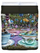 Tea Cup Ride Fantasyland Disneyland Duvet Cover by Thomas Woolworth