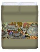 Tea For Three Duvet Cover