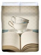 Tea For Two Duvet Cover by Amy Weiss