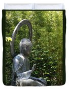 Tea Garden Buddha Duvet Cover