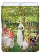 Tea In The Garden Duvet Cover
