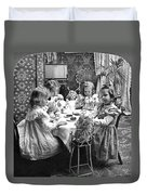 Tea Party, C1902 Duvet Cover
