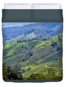 Tea Plantation In The Cameron Highlands Malaysia Duvet Cover