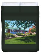 Tea Rooms At The Peoples Park Duvet Cover