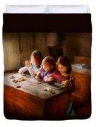 Teacher - Classroom - Education Can Be Fun  Duvet Cover