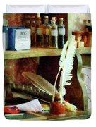 Teacher - School Supplies In General Store Duvet Cover