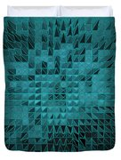 Teal Quilt Duvet Cover