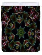 Teal Star Burst Duvet Cover