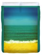 Teal Waters Duvet Cover by Michelle Calkins