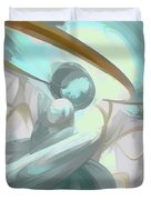 Teary Dreams Pastel Abstract Duvet Cover