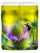 Teasel And Bee Duvet Cover