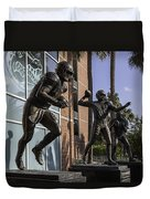 Tebow Spurrier And Wuerffel Uf Heisman Winners Duvet Cover