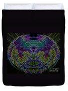 Tech Globe Duvet Cover