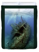 Technical Divers On The Giannis D In The Red Sea  Egypt Duvet Cover